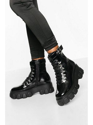 Boohoo Belted Chunky Hiker Boots