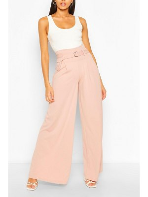 Boohoo Belted Deep Waist Extreme Wide Leg Pants