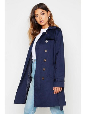 Boohoo Belted Double Breasted Trench