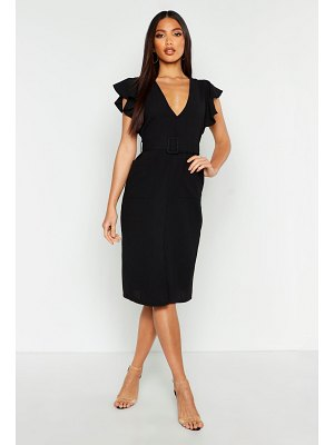 Boohoo Belted Maxi Shirt Dress