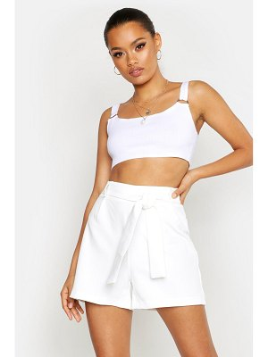Boohoo Belted Tailored Short