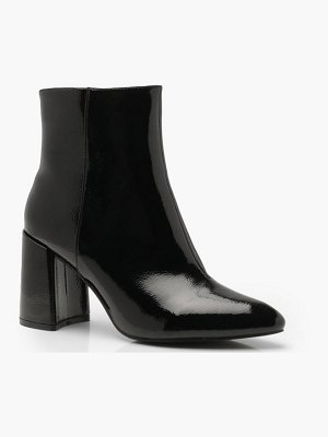 Boohoo Block Heel Pointed Shoe Boots