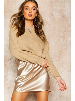 Boohoo Boxy Crew Neck sweater