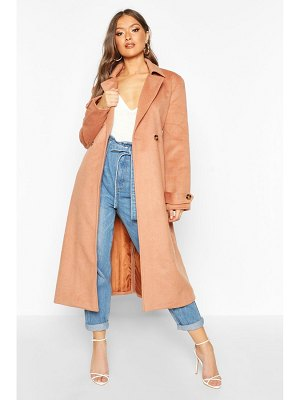 Boohoo Brushed Wool Look Trench Coat