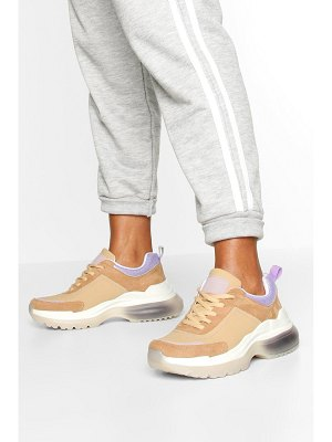 Boohoo Bubble Sole Chunky Lace Up Sneakers