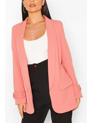 Boohoo Button Cuff Tailored Blazer