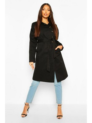 Boohoo Button Detail Mac Trench Coat