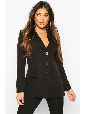 Boohoo Button Down Fitted Blazer