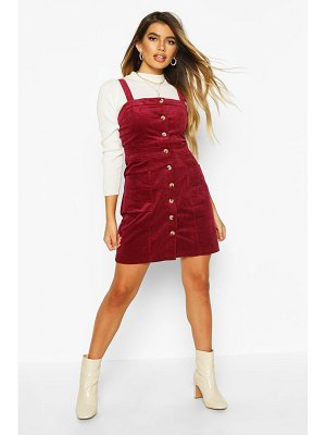 Boohoo Button Front Cord Dress