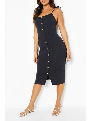 Boohoo Button Front Midi Dress