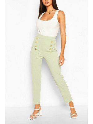Boohoo Button Front Straight Leg Trouser