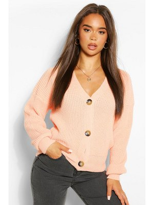 Boohoo Button Through Crop Cardigan