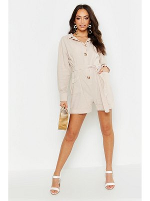 Boohoo Button Through Utility Romper