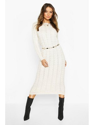 Boohoo Cable Knit Midi Dress