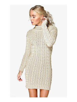 Boohoo Cable Knit Sweater Dress