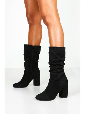 Boohoo Calf High Rouched Boots