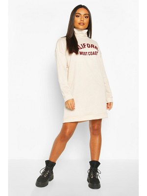 Boohoo California Funnel Neck Sweat dress