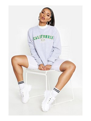 Boohoo California Slogan Sweat