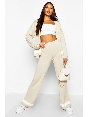 Boohoo Cardigan & Wide Leg Trouser Knitted Set