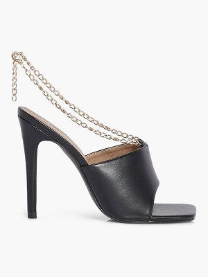 Boohoo Chain Detail Square Toe Mules