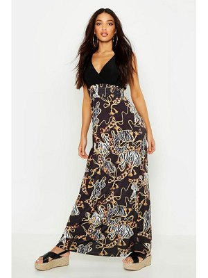 Boohoo Chain Print Maxi Dress