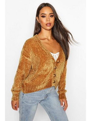 Boohoo Chenille Button Through Cardigan