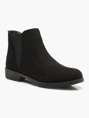 Boohoo Chunky Cleated Chelsea Boots
