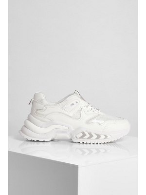 Boohoo Chunky Contrast Lace Trainer