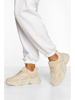 Boohoo Chunky Platform Lace Up Sneakers