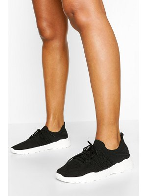 Boohoo Chunky Sole Knitted Sneakers
