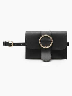Boohoo Circle Buckle Belt Bag