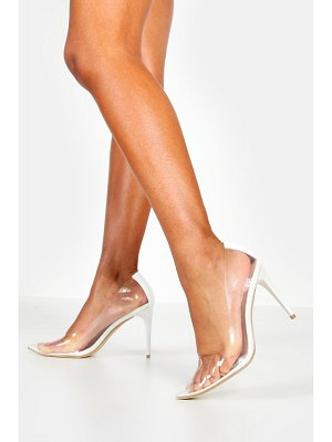 Boohoo Clear Pointed Toe Courts