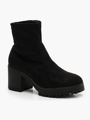 Boohoo Cleated Ankle Sock Boots
