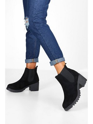 Boohoo Cleated Chunky Chelsea Boots