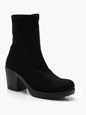 Boohoo Cleated Sock Ankle Boots