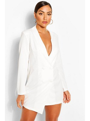 Boohoo Collarless Double Breasted Blazer Dress