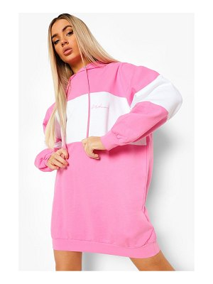 Boohoo Colour Block Hoodie Dress
