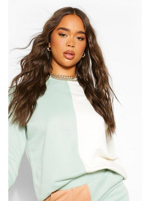 Boohoo Colour Block Sweatshirt