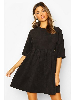 Boohoo Cord Smock Dress