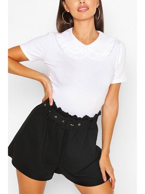 Boohoo Cotton Collar Button Detail T-Shirt