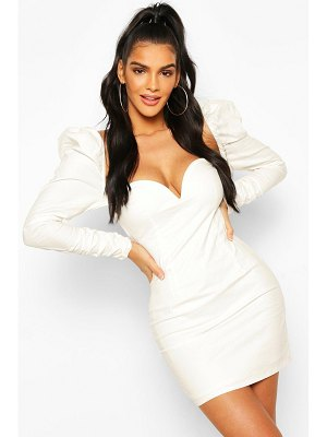 Boohoo Puff Sleeve Mini Dress