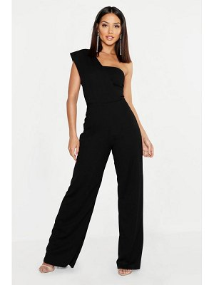 Boohoo One Shoulder Drape Jumpsuit