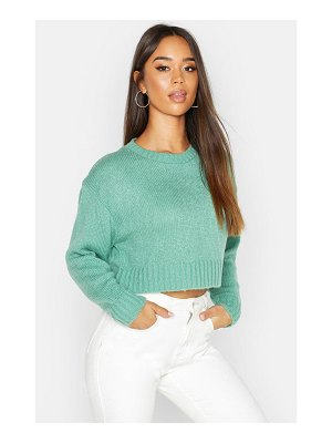 Boohoo Crew Neck Boxy Crop Sweater