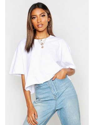 Boohoo Crop Boxy Oversized T-Shirt