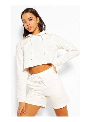 Boohoo Crop Hoody And Short Set