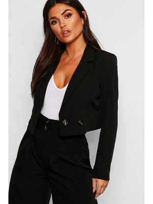 Boohoo Cropped Double Breasted Blazer