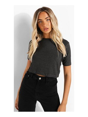 Boohoo Cropped Short Sleeve T Shirt