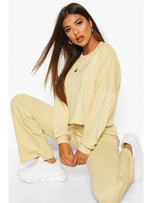 Boohoo Cropped Sweat & Wide Leg Trouser Co-ord