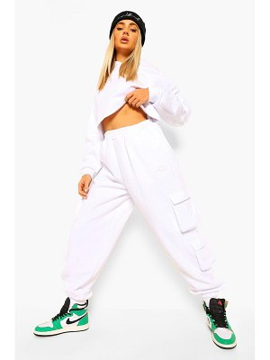 Boohoo Cropped Utility Hooded Tracksuit