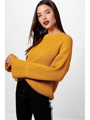 Boohoo Cuff Detail Fisherman Sweater